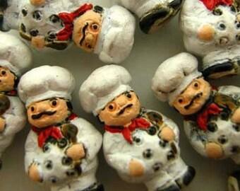 4 Tiny Chef Beads
