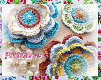 Delicious Exotic Flowers Crochet Pattern