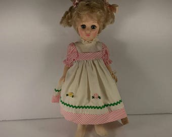 """Effanbee Mary Mary quite contrary 11"""" Doll storybook Collection 1984"""