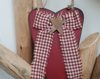 Country wooden heart