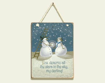 Engagement Christmas ornament, Gift for Engaged Couple, Gift for Bride, Proposal idea Christmas, Couples snowman engagement gift