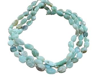 PERUVIAN OPAL FREEform Beads Pale Blue NewWorldGems