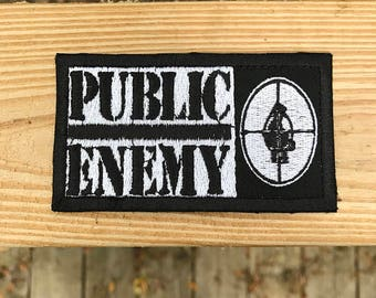 """3""""x2"""" public enemy iron on or sew on patch"""