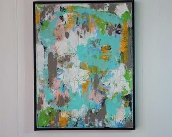 Painting, Abstract, Modern, Original Art, Framed Painting