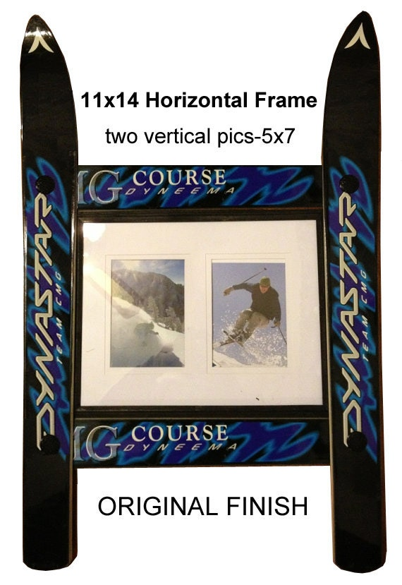 CUSTOMIZE your own SINGLE 11x14 Ski Frame made in Vermont and