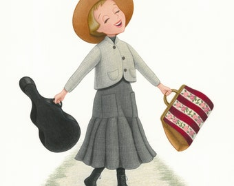 Sound of Music Maria Colored Pencil Fan Art Print