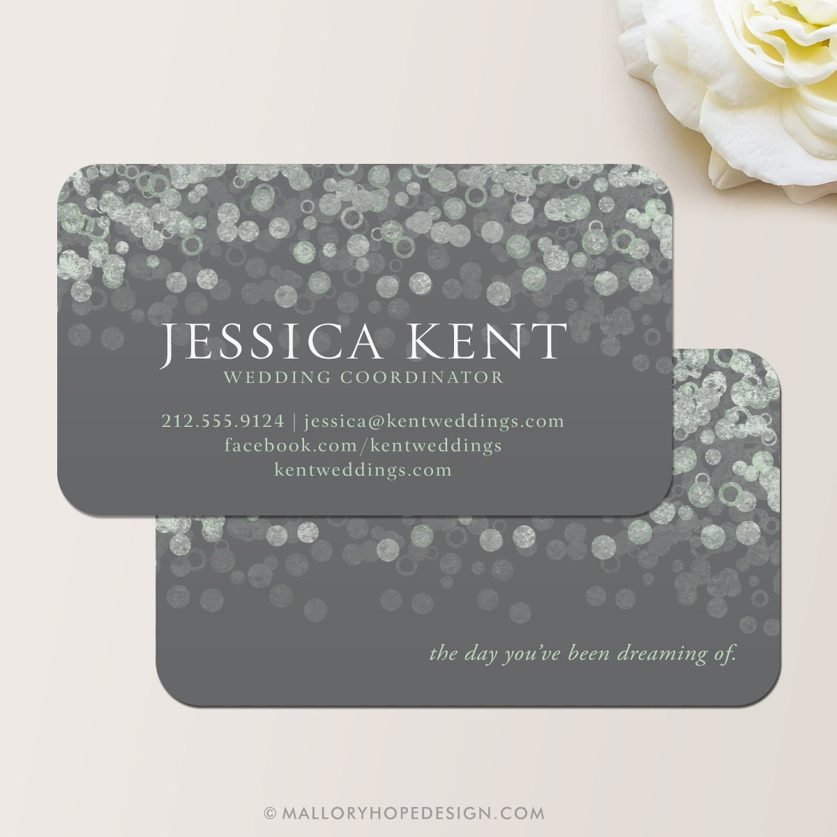 Champagne Bubbles Business Card / Calling Card / Contact Card