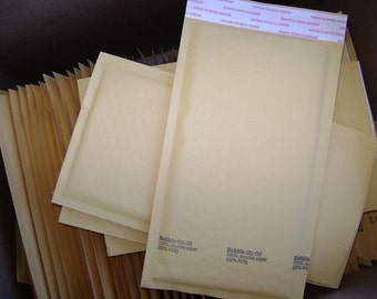 100 Qty 6x10in Kraft Bubble Mailer Size 0 Padded Bubble Mailing Envelopes Ships to USA 48 states
