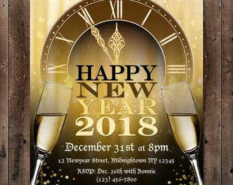 New Years Eve Party Digital Invite