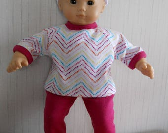 """15"""" Doll Clothes 3 Piece Outfit for Bitty Baby Type 15"""" Dolls"""