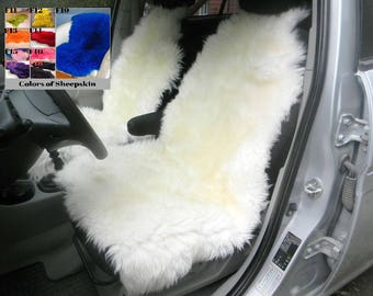 Sheepskin Car Seat Cover 47x22inch Universal Genuine Warm Cape For