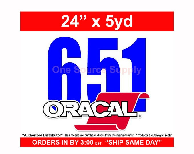 "24"" x 5 Yard Roll Oracal 651 Gloss Finish Vinyl - PSV - Craft Vinyl - Decal Vinyl"