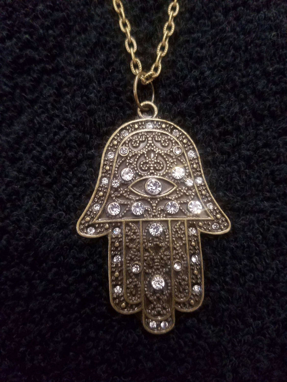 Hamsa hand symbol necklace description hamsa hand symbol pendant buycottarizona Gallery