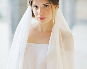 Cathedral length Silk Chiffon Veil, Bridal Veil, Wedding Veil, Romantic Veil -Style 1815 'Guinevere' MADE TO ORDER