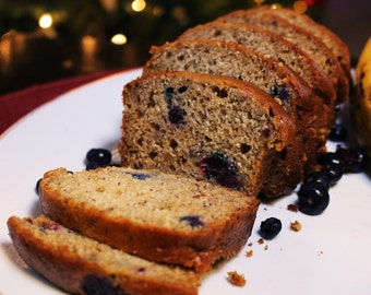 Blueberry Banana Bread - Loaf