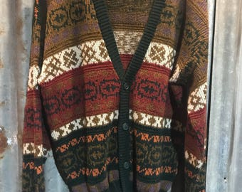 Vintage 'Scandia' Holiday Winter Cardigan