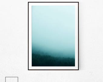 Nordic Forest, Minimalist Forest, Forest Print, Forest Poster Art, Forest Poster, Forest Wall Art, Forest Photography, Forest Print Large
