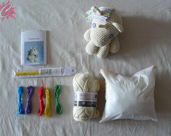 Kit Crochet Unicorn stuffed Doll by Célénaa