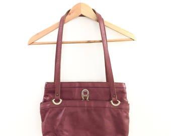 Vintage Etienne Aigner Burgundy Handbag