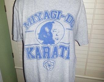 Vintage T shirt, vintage Karate Kid T shirt, Vintage Karate T shirt, vintage miyagi-do T shirt.