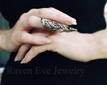 Arwen Elegant Vintage Brass Knuckle Ring Armor Ring