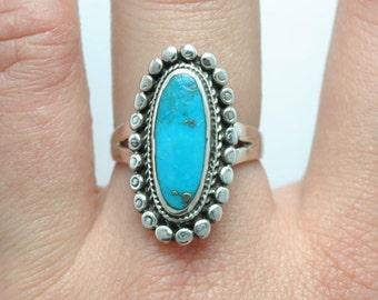 Turquoise ring, native american ring, vintage ring, southwest jewelry, vintage jewelry, turquoise jewelry, boho ring, ethnic ring