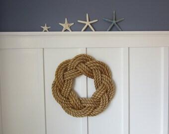 Rope wreath - Nautical wreath - Maritime wreath