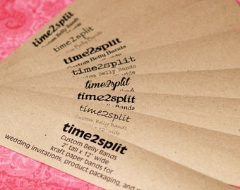 """Kraft Paper Wide Belly Bands (100) ... 2"""" x 12"""" Product Wrap Blank or Printed Invitations Seller Supplies Wedding Paper Ribbon Kraft Paper"""