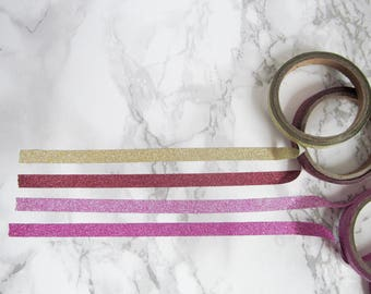 thin glitter washi tape samples