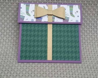 Personalized Christmas Gift Card Holder - Also works great with money! (GC0074)