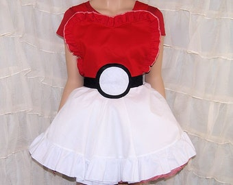 Pokemon Cosplay Pinafore Apron Costume Skirt Adult ALL Sizes - MTCoffinz