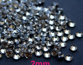 AAAAA 2mm Round Cubic Zirconia Loose Stone CZ Diamond Brilliant Cut - Diamond Clear - 36pcs