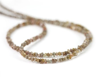 Diamond Rough Beads 10 Brown Cafe Latte Natural Chip Beads Precious Gemstone April Birthstone
