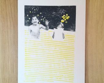 Screenprint // Kids // Black & Yellow