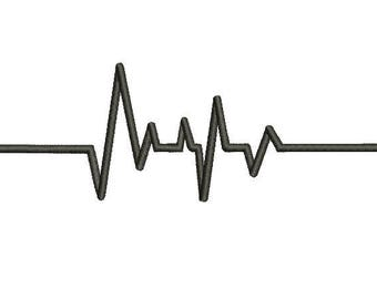 29 Sizes Heart Beat HeartBeat Nurse Embroidery Fill Mini Design Machine Instant Download Digital File EN2161F1