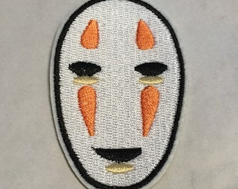 No face Spirited Away Service Iron on Patch Embroided High Quality Adhesive Back