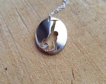 Monkey Necklace, Animal Pendant, Silver Monkey, Monkey Gift, Monkey jewelry