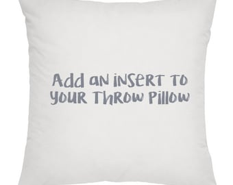 "20 x 20"" Large Insert for Throw Pillow."