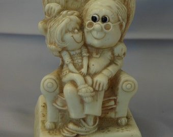 Grandfather is another word for LOVE figurine ~ Vintage