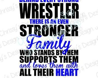 Stronger Wrestling family svg / wrestling cut file / dxf / school sports svg / school sports dxf / wrestling clip art / vinyl carfts