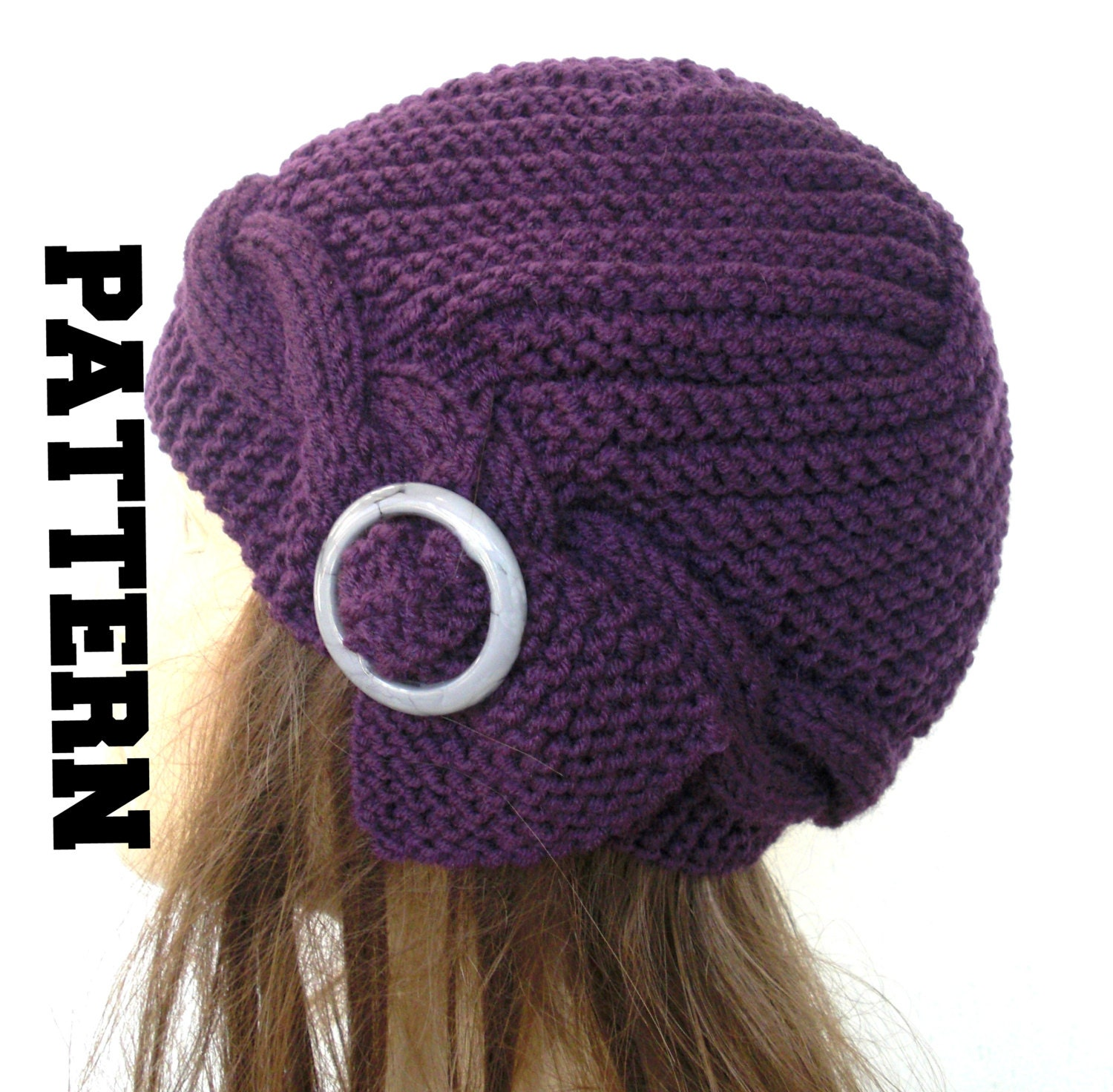 Cable Knit hat Pattern Instant Download Knit hat pattern- Digital ...