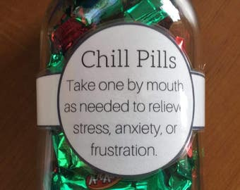 Customizable Chill Pill Label Digital File Gag Gift Label