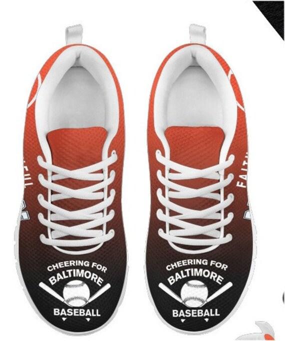 HB Fan 034A Baltimore Shoes Sneaker Baseball Walking Orioles PP q0w0ZE18