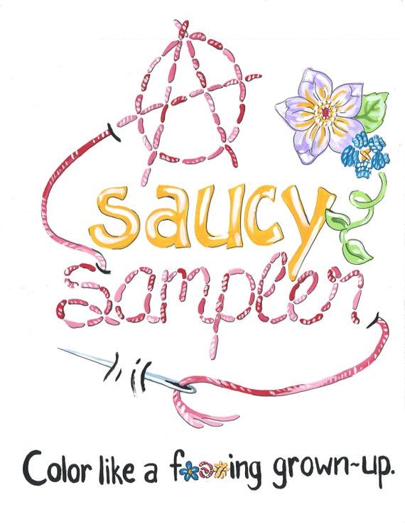 Una sábanas lasciva picantes Sampler un libro para colorear