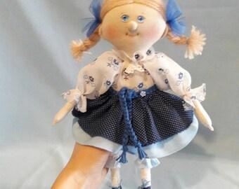Cloth Doll handmade toy textile Doll Fabric Doll Rag doll Personalized rag doll soft doll handmade rag doll