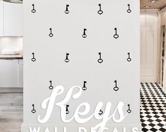 Keys Wall Decal Pack, Vinyl Wall Sticker Decal Art Pattern WAL-2162