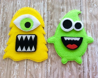 Felt Build a Monster Set, Felt Monster game, Educational Toy, Felt Board, Quiet Time Activity, Monster Puzzle, Travel Toy, Floor Play