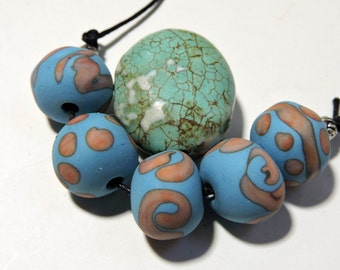 Lampwork Beads NATURALS Two Sisters Designs 011517E