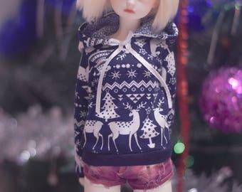 Handmade hoody for MSD 1/4 BJD dolls