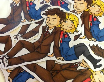Doctor Who Sticker 10 and Rose